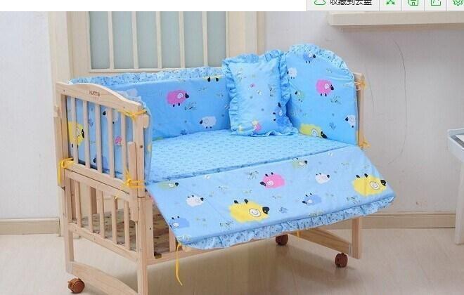 Vente en gros de lit bébé ensemble de literie cartoon ensemble de literie 100% coton literie, lit, décoration sont équipées d'un pare-chocs matelas $42.94 sur Fr.dhgate.com   DHgate