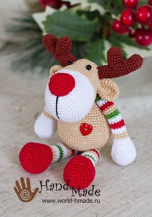 Amigurumi Deer Rudolph-Free Pattern - Amigurumi Free Patterns