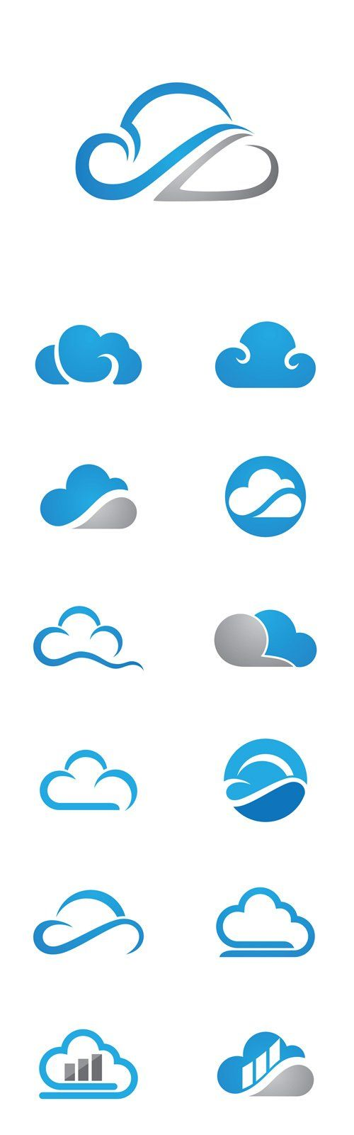 Vector Cloud Technology Logo Template