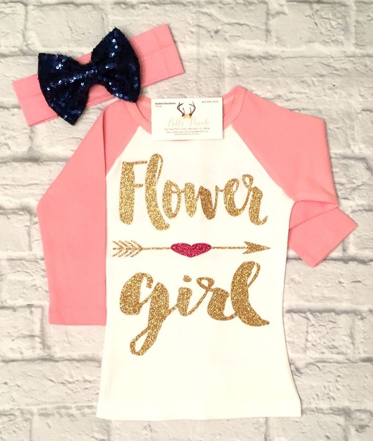 Flower Girl Shirts Flower Girl Raglan Shirt Flower Girl Jersey Shirts - BellaPiccoli