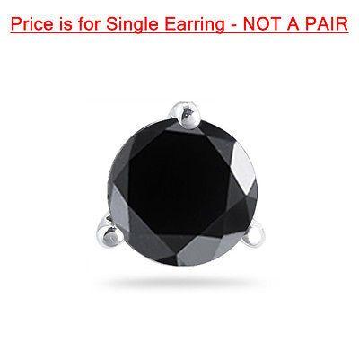 3/8 (0.35-0.45) CTS из 3.50-4.00 мм AAA круглый черный бриллиант Мужские запонки Серьги