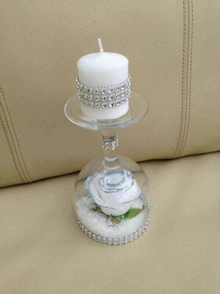 Pin By Reena Chetty On Candle Fiy In 2020 Wine Glass Candle