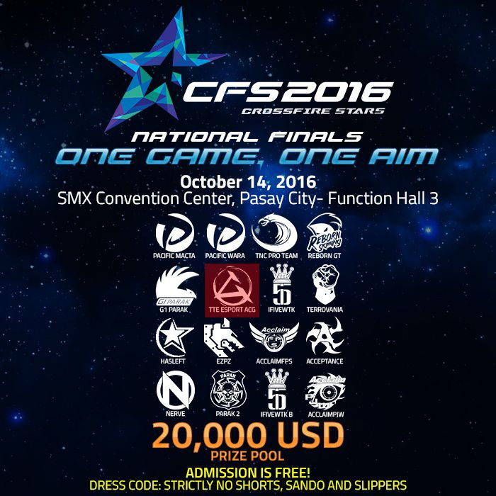 October 14th will see ACGaming TTesports compete at #CFS2016 National Finals for a chance to win the $20,000 USD prize pool. Train hard, play hard...and let the countdown begin!