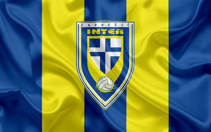 Descargar fondos de pantalla NK Inter Zapresic, 4k, croata de Fútbol del Club, emblema, logo, futbol americano, bandera, HNL, croata Campeonato de Fútbol, croata Primera Liga de Fútbol, de Prohibición, de Croacia, Zapresic FC