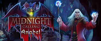 Midnight Calling: Anabel | #HiddenObjectGame | The castle calls... Fans of the blockbuster game Midnight Castle will thrill to Elephant Games' prequel! You play as lovable vamp Anabel this time. Your father Henry disappeared years ago, but he's been calling you in your dreams. Travel back to your hometown to save your father and learn the castle's hidden secrets! A batty sidekick, loads of silhouette and listed hidden-object puzzles, morphing objects, and collectibles make this a…