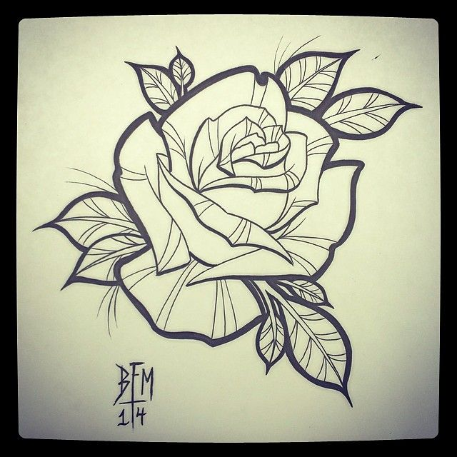"24 Me gusta, 1 comentarios - Bryan F.N. Myles Tattoos (@bfm_tattoos) en Instagram: ""#classy #rosetattoo #forsale #200$ #bfmtattoos #neotraditional #rose #tattoos #MOTattooing"""