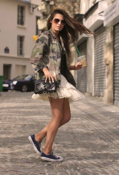 #Converse with skirts, converse for girls! http://www.missomoms.com/converse-for-girls-wardrobe-staple/ #sneakers