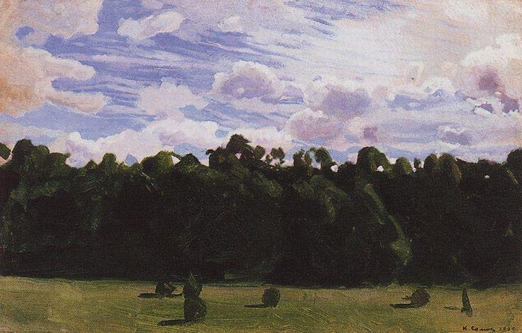 Forêt, 1900 de Konstantin Somov (1869-1939, Russia)