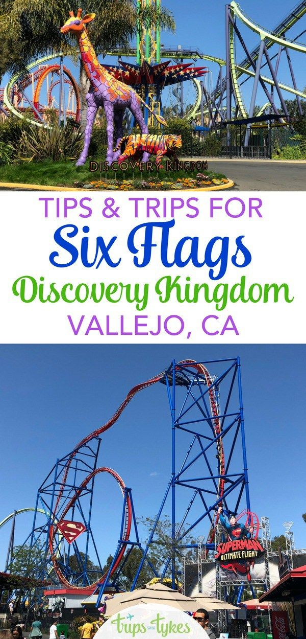Tips Tricks For Six Flags Discovery Kingdom Trips With Tykes Amusement Parks In California Six Flags California Travel Road Trips