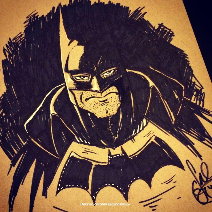 Day 7: Gotham by Gaslight Batman (Quick and Dirty) by Dennis Salvatier #inktober