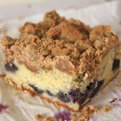 Blueberry Crumb Cake. Use fresh or frozen blueberries to lighten up the cake and give it a pop of color.