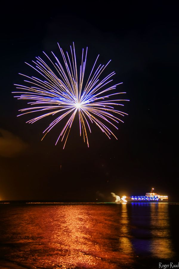 Fireworks over Paphos, Cyprus