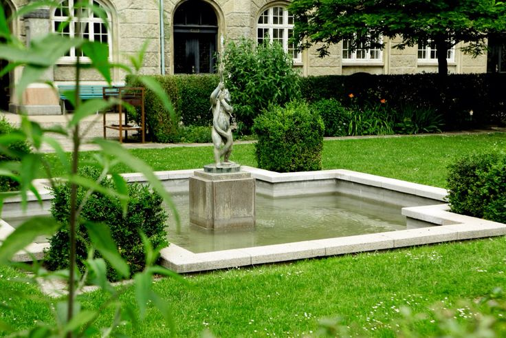 Garden with old fountain