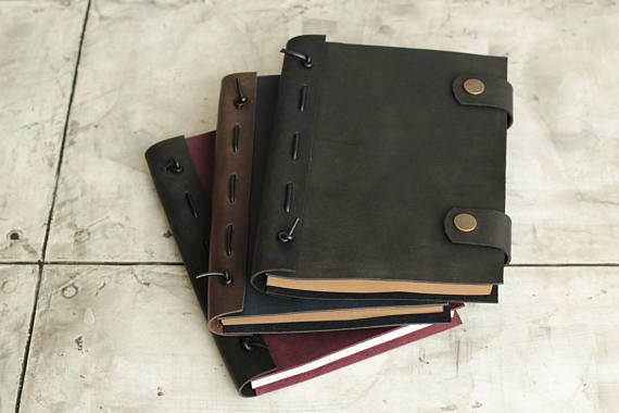 Personalized leather journal Brown leather journal Custom