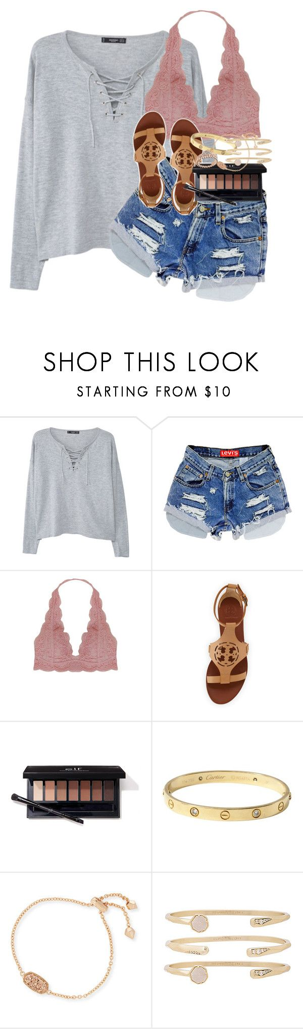 """""""why trust people with your heart, when you cant trust them with your feelings?"""" by emilyandella ❤ liked on Polyvore featuring MANGO, Humble Chic, Tory Burch, Cartier, Kendra Scott and Pandora"""