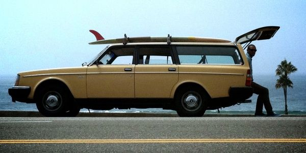 Mustard Yellow 1983 Volvo 240 DL wagon, hopefully my Valerie will sport a surfboard on her roof one day (: