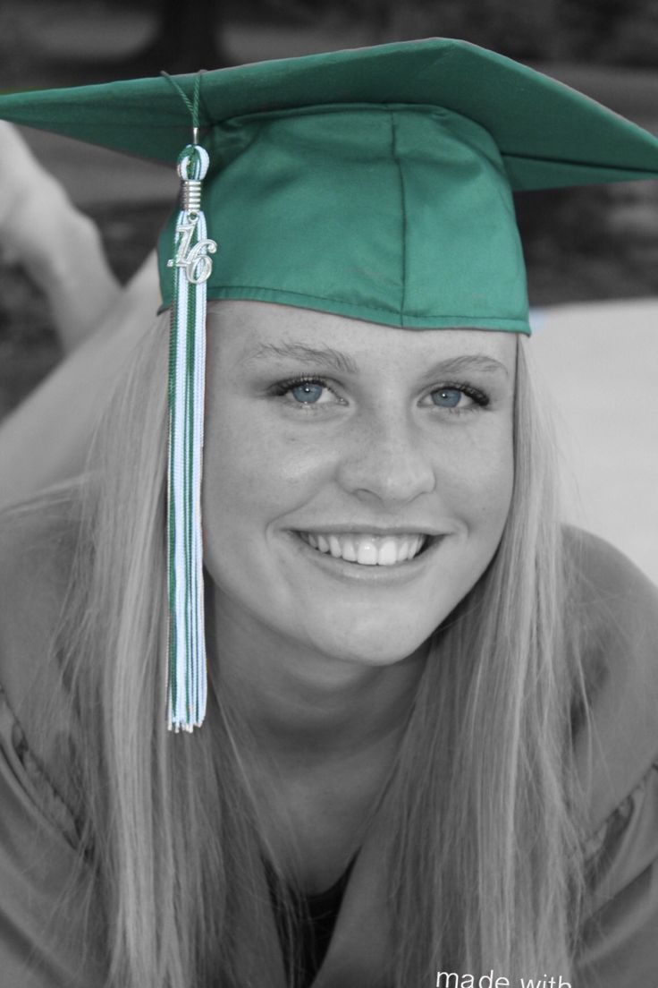 Another cap and gown picture using the color pop app.
