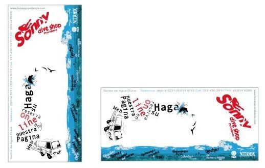 Diseño de Flyer para la Marca Sonny Dive Shop