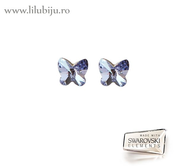 Cercei Swarovski Elements™ - Fluturi Violet by LiluBiju (copyright)