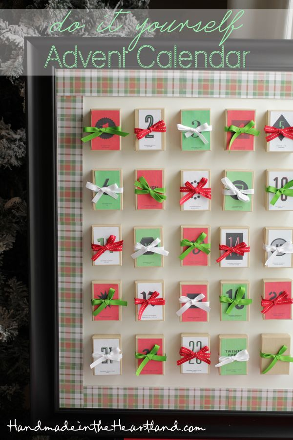 1000 images about handmade in the heartland on pinterest for Make your own christmas countdown calendar