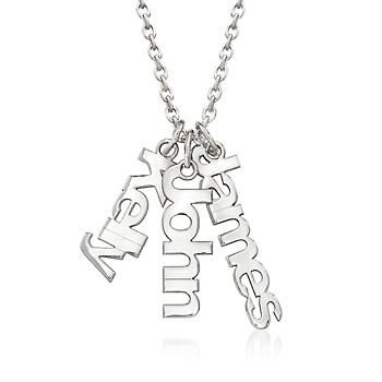 this custom charm necklace is the perfect way to show off your close friends or family