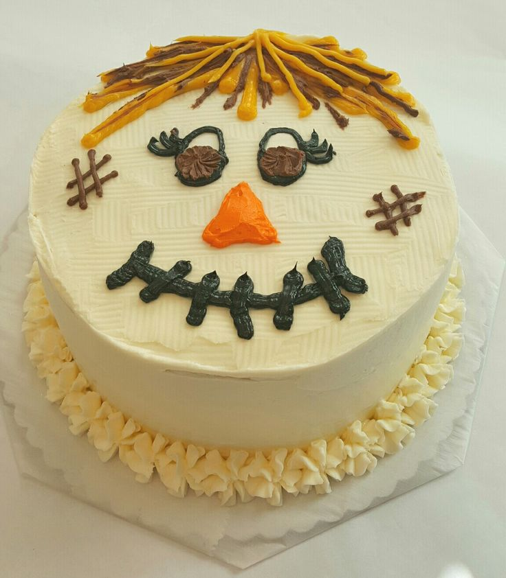 Have A Fall Fun Day With The Kids And Decorate This Scarecrow Copy Cake Kit Not Too Scary Just L Stick Frost