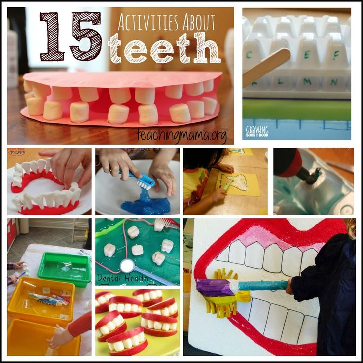 15 Activities About Teeth for Preschoolers -- February is National Children's Dental Health Month. Teach kids all about teeth using these awesome hands-on activities!!