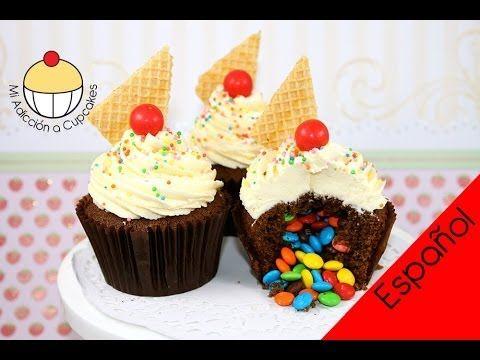 ¡Cupcakes Piñata Sorpresa! ¡Cómo hacer cupcakes rellenos con una sorpres...
