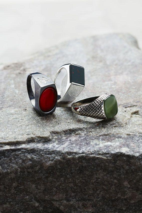 Unisex sølvringer fra Arven. Like flotte til kvinner som til menn.  -  Unisex silver rings from Arven. They look just as great on women as they do on men.