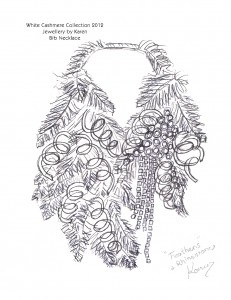 A sample of Karen McFarlane's BT-jewelry for the WCC 2012