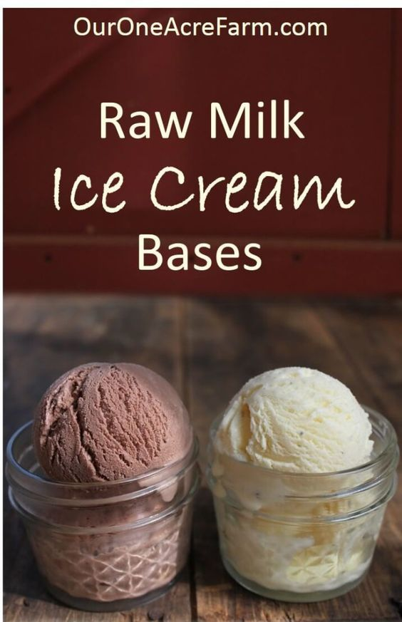 Quick, easy, and exceptionally creamy recipes for vanilla and chocolate homemade raw milk ice cream bases. Giving recipes for both vanilla and chocolate makes it possible for you to adapt them to many, many different flavors. Customize them with your own delicious add-ins, if you like!
