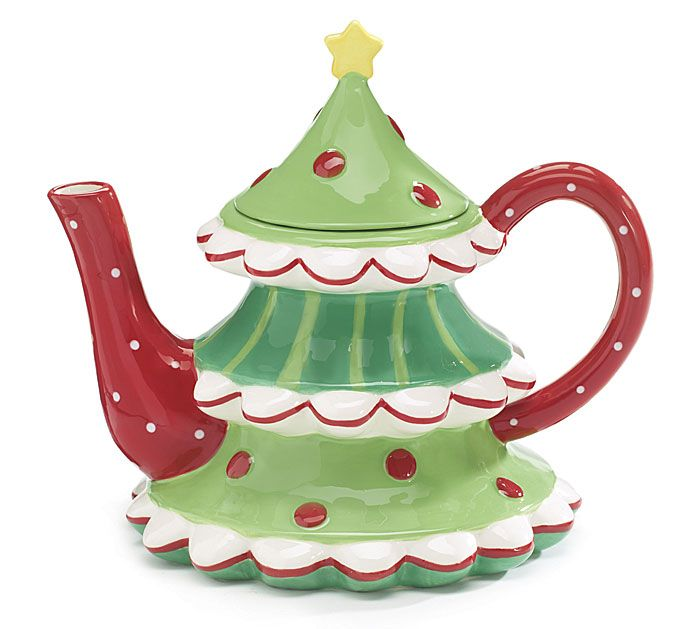 Christmas Tree Teapot: 1000+ Images About Teapots On Pinterest