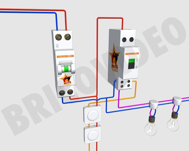 T l rupteur unipolaire cablage lectricit pinterest - Schema electrique telerupteur ...