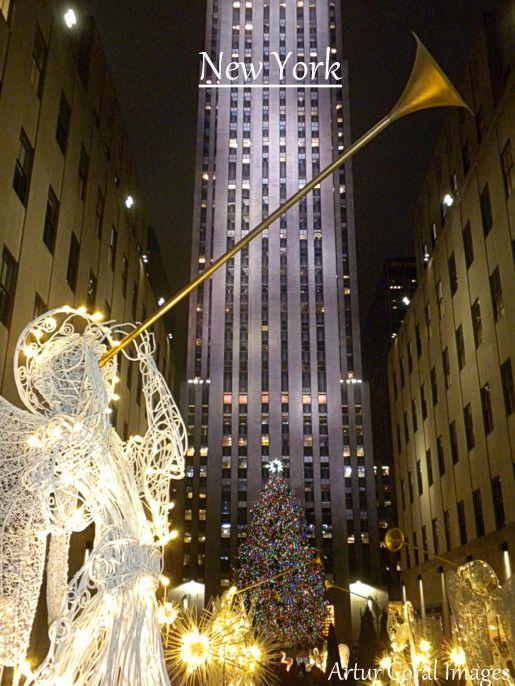 NUEVA YORK ||||| ARBOL DE NAVIDAD DEL CENTRO ROCKEFELLER DE MANHATTAN, NUEVA YORK. FOTOS POR ARTUR CORAL. 5 DIC 2013