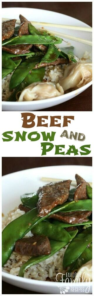 This Beef and Snow Peas is a light and easy recipe that is the perfect weeknight dinner. Serve over rice or noodles for a complete meal! via @favfamilyrecipz