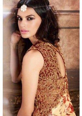 couleur crème Banarasi costume Anarkali de soie, - 134,00 €, #TenuBollywood #LaModeIndienne #LaModeExclusive #Shopkund