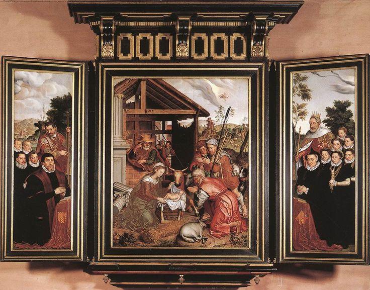 Pieter Pourbus, Adoration of the Shepherds (1574)