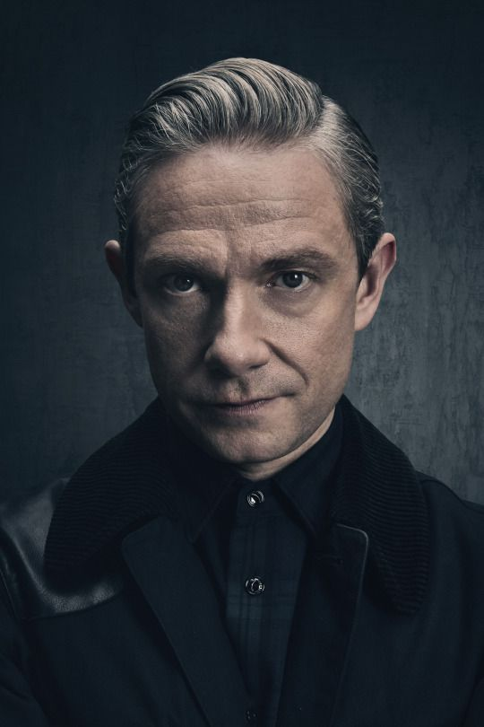 SHERLOCK (BBC) ~ Martin Freeman S4 promo photo.