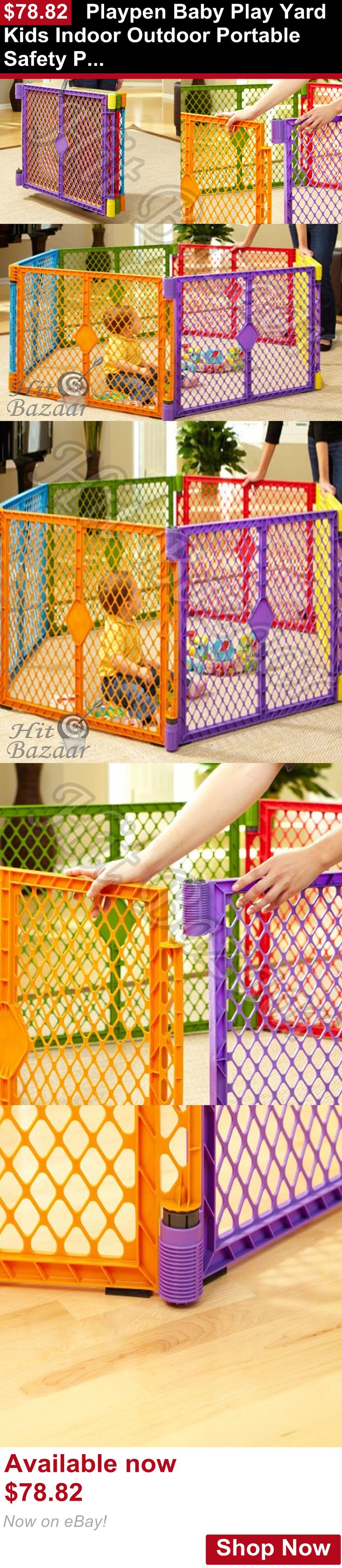 Baby Play pens and play yards: Playpen Baby Play Yard Kids Indoor Outdoor Portable Safety Playard Gate Game Pen BUY IT NOW ONLY: $78.82