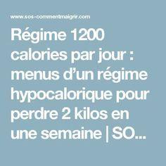 Régime 1200 calories par jour : menus d'un régime hypocalorique pour perdre 2 kilos en une semaine | SOS Comment Maigrir | Toutes nos Astuces pour Maigrir Vite et Bien
