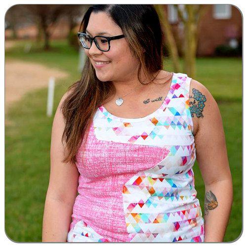 Pretty Pennants | Cotton Spandex Knit Fabric | Diaper Sewing Supplies