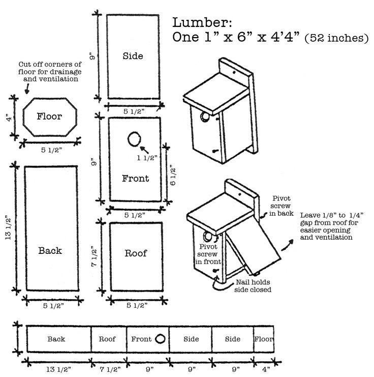 bird nesting boxes plans