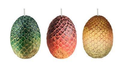 Set de 3 Velas Huevos de Dragones 6 x 9 cm. Juego de Tronos. Insight Collectibles Foto 1