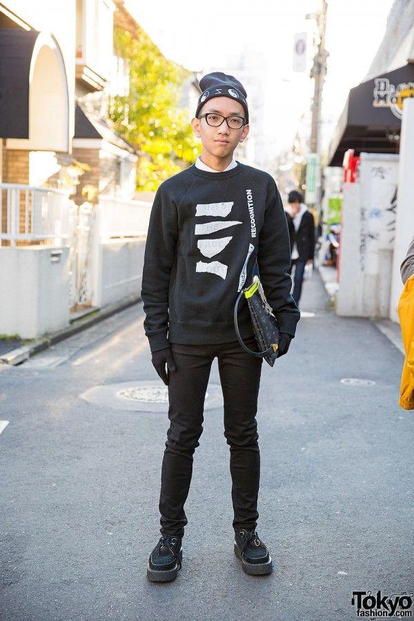 Harajuku Guy w/ MCM Clutch, George Cox Creepers & Sweatshirt