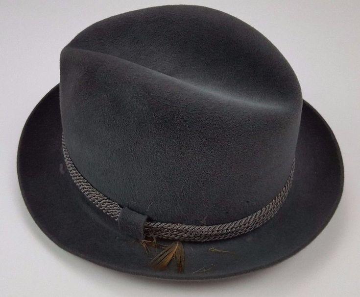 Vintage Dobbs Hat 7 Gray Fedora Mens Felt w/ Box Size Men Fifth Avenue New York  #Dobbs #Fedora #Business