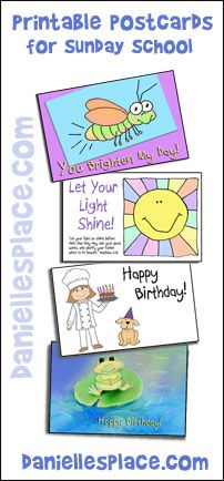 Printable Postcards for Sunday School from www.daniellesplace.com