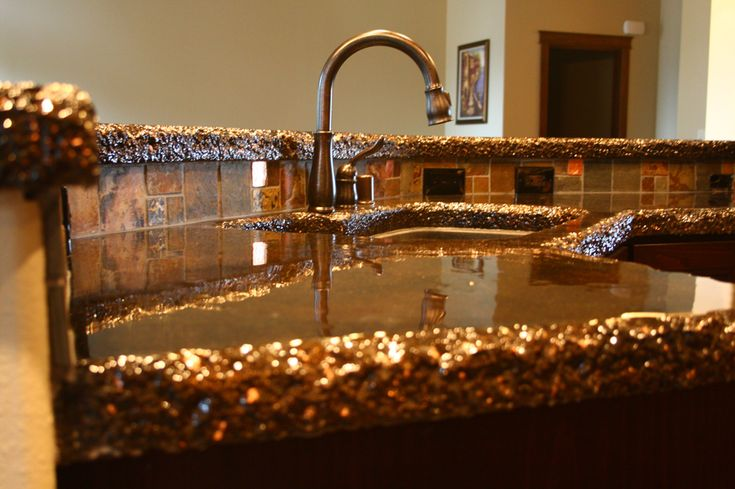 Best 25 stained concrete countertops ideas on pinterest Copper countertops cost