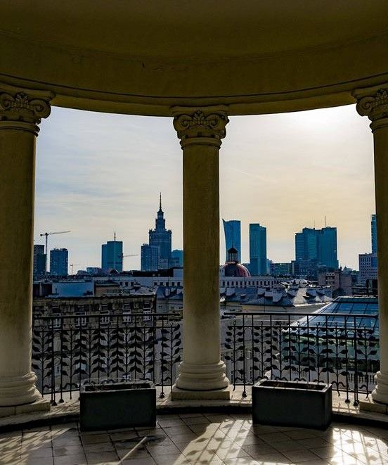 View from the Hotel Bristol in Warsaw Poland