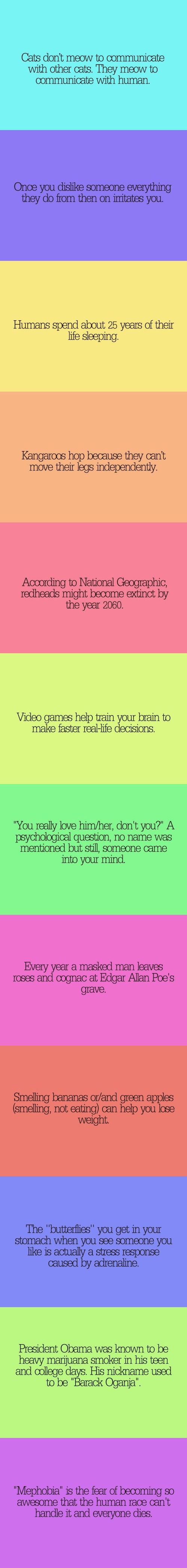 Psycho Facts <<< haha I love these!!