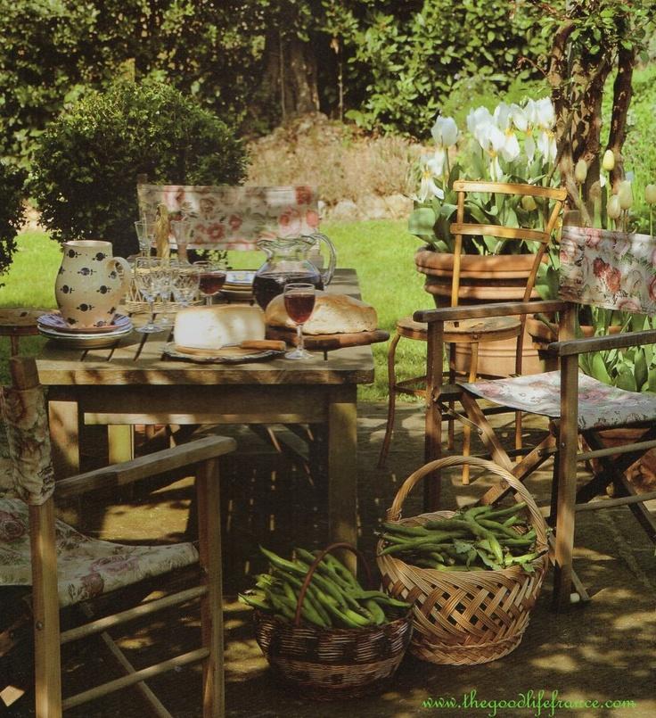 A garden in France
